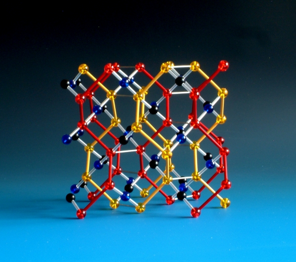 Abstract model of the space group Ia-3d used for teaching crystallography