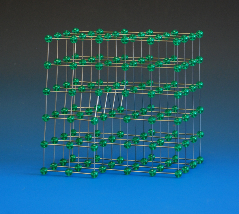 A model of a screw dislocation in a primitive cubic crystal lattice